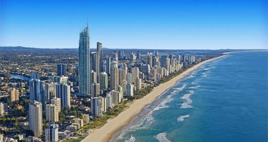 Fotografie z Austrálie Goldcoast