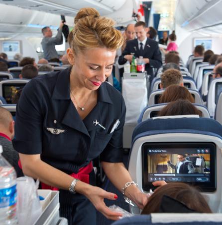 Letuška v letadle